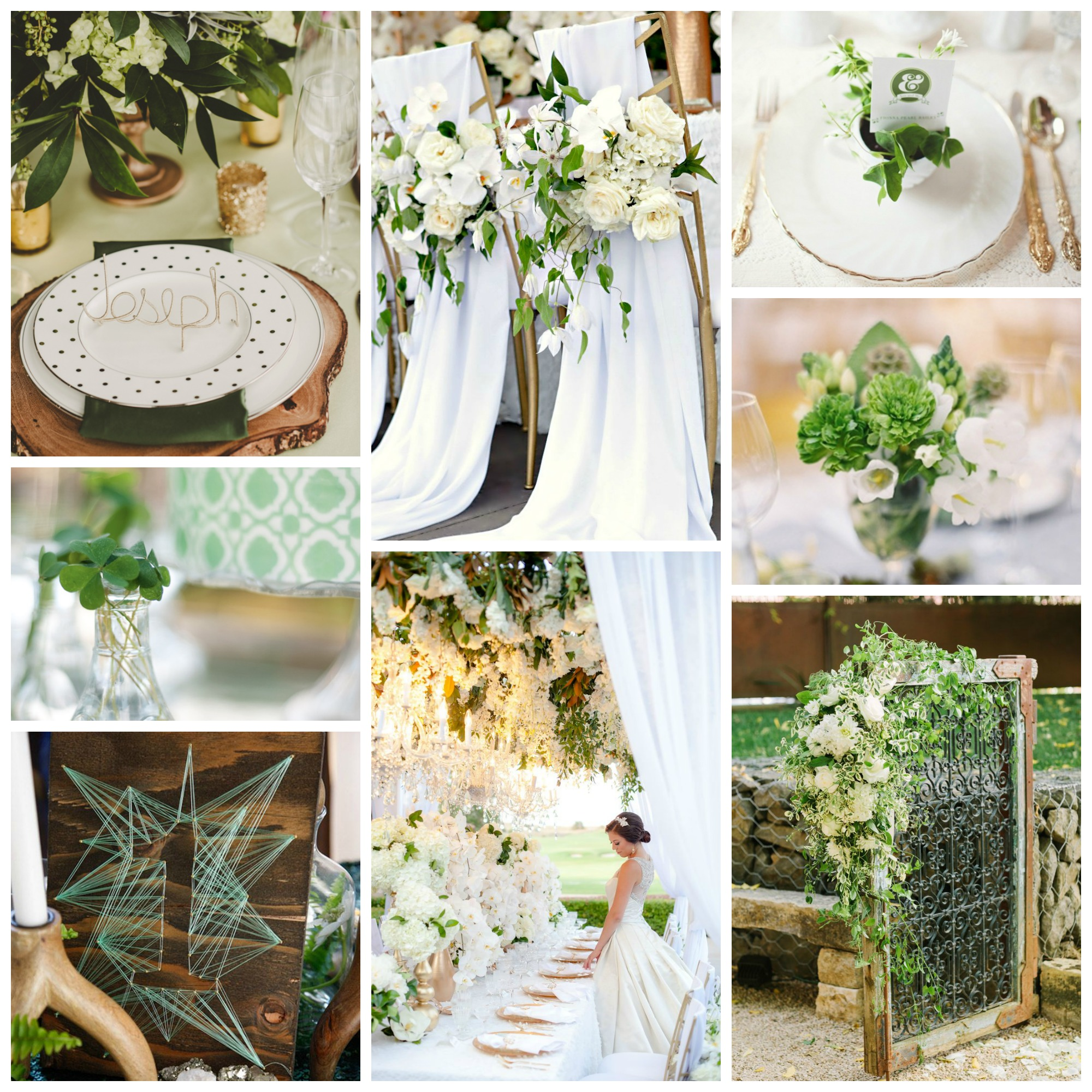 Wedding Ideas And Inspirations: Green + White Wedding Inspiration